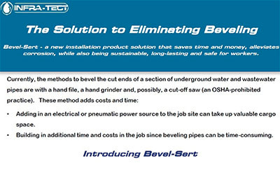 Bevel-Sert - Eliminating Beveling Sell Sheet
